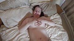 Curvy British mom plays with sex toy