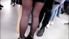 Beauty Sexy Girls whit Black Pantyhose & Boots - Candid