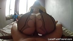 sex milf in lingerie rides reverse cowgirl