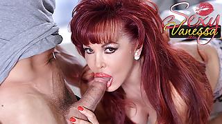 Mature redhead Sexy Vanessa loves his big cock
