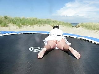 Naked trampolining - On the trampoline 2