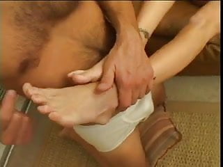 Itchy eyes penis and feet Papa - blond strokes penis with feet