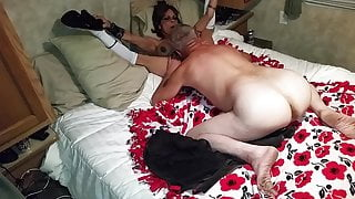 Mom and step son watch porn