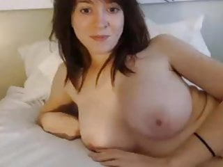Topless boob video - Nice woman with big boobs topless on cam