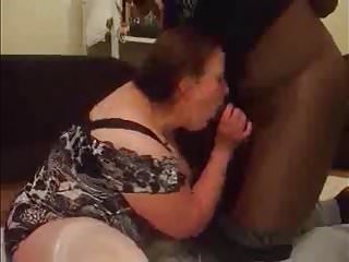Interracial fuck and orgasm - Amateur bbw wife sucking, fucking, and squirting on bbc