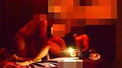 Desi Paar-Dreier Doppelpenetration mit heißem Hindi-Audio