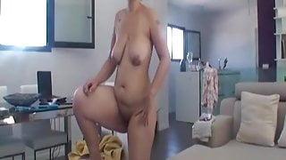 Wife homemade blowjob cum real part 2