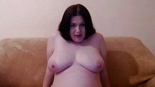 Ukrainian webcam model. Puffy pussy.