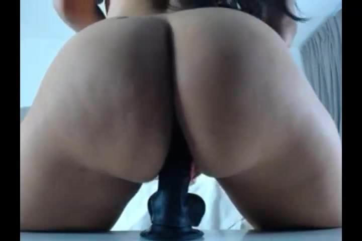 Big Tits Latina Riding Dildo