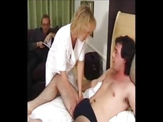 Nurse sucks off patient - Mature british nurse creampied by patient