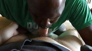 Lil dick Black Bear swallows White College cum
