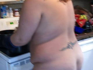 Pierced nudist niplles Cooking part 2