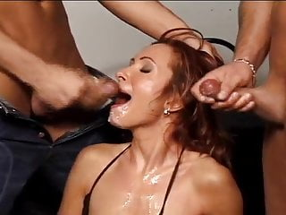 Wife sucks many men tube - Cumwhore wife sucking many cocks