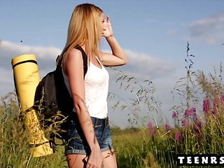 Wives fucks girlfriend - Gorgeous teen with perfect boobs fucks girlfriend outdoors