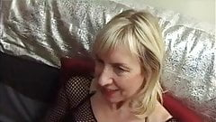 French Blonde Granny Anal