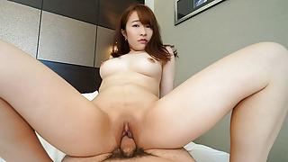 Japanese amateur Chikako Sakuri wants sex with men in hotel