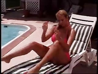 Tawny stone sex tape - Tawni lyons masterbates by pool with toys