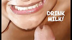 I drink all my milk as good girl