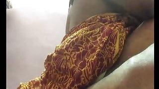 Red saree wit yellow petticoat