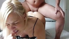 Amateur anal sex with cute blonde girl