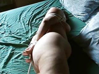 Bondage struggle captured Plump milf struggles in bondage