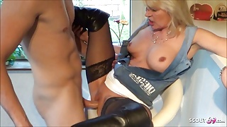Young Guy Seduces German Mature to Fuck on Birthday Party