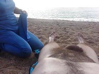 Nude females on the beach Nude massage on the beach