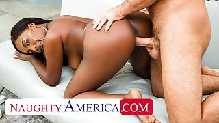 Naughty America - Daya Knight takes her friend's big cock