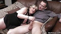 Chubby gf ex enjoys riding his big dick