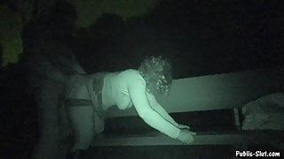 Nightshot dogging gangbang with cum dump Jessica
