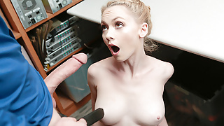 ShopLyfter - Thief Blonde Babe Fucked While In Custody