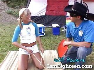 Teen summer boot camps - Cute teen gets fucked at summer camp