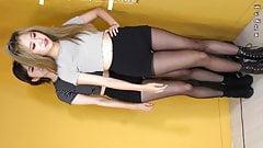 Korean dance girls in pantyhose - 2