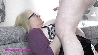 Big boobs Mature Sally cumpilation