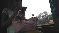 Hungarian Legs Spy Camera Hidden Camera in Bus Voyeur Video