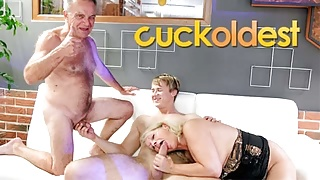 Old Gunther Cuckolding his Slutty Mature Wife