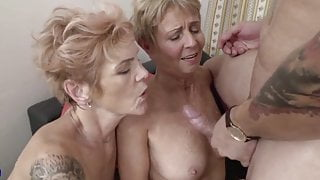 Two sexy slim old women
