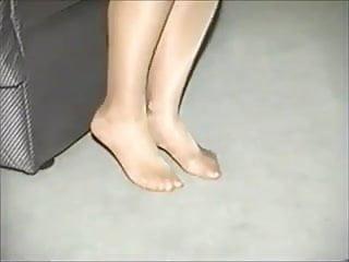 Guys like pantyhose stockings - Pantyhose feet rubbing a candle like giving a footjob