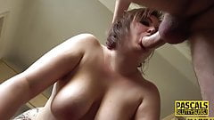 Big ass paddled larger lady sub throats