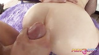 PervCity Red Head Interracial Anal Threesome
