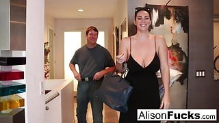 Busty Alison Tyler meets her Catfish, then fucks his roommate