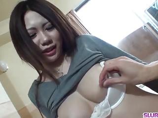 Asian guy from star - Miyu ninomiya gets cock in pussy from random guy