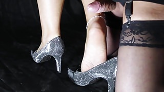 Slow motion foot and nylon erotic