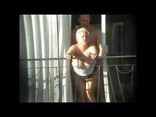 Spy sex camer public camera Spying exhib neighbour fucking on balcony bvr
