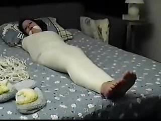 Struggling teen canada - Mummified whore betty is struggling and gets feet tickled
