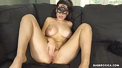 Solo masturbation video with hot babe, Lana Rhodes, in 4K