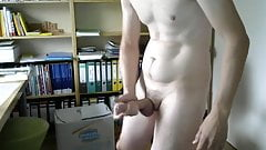 flooding the homeoffice with tons of cum