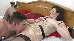 Taboo sex with real mature mothers