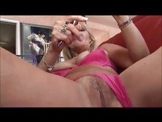 Sex toy teasters - Mature woman gives her backdoor to a sex toy and a dick