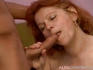 Huge hairy ass Bbw redhead milf with huge tits gets smashed